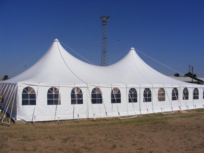 Marquees tents stretch tents for hire protarp for Semi permanent tent